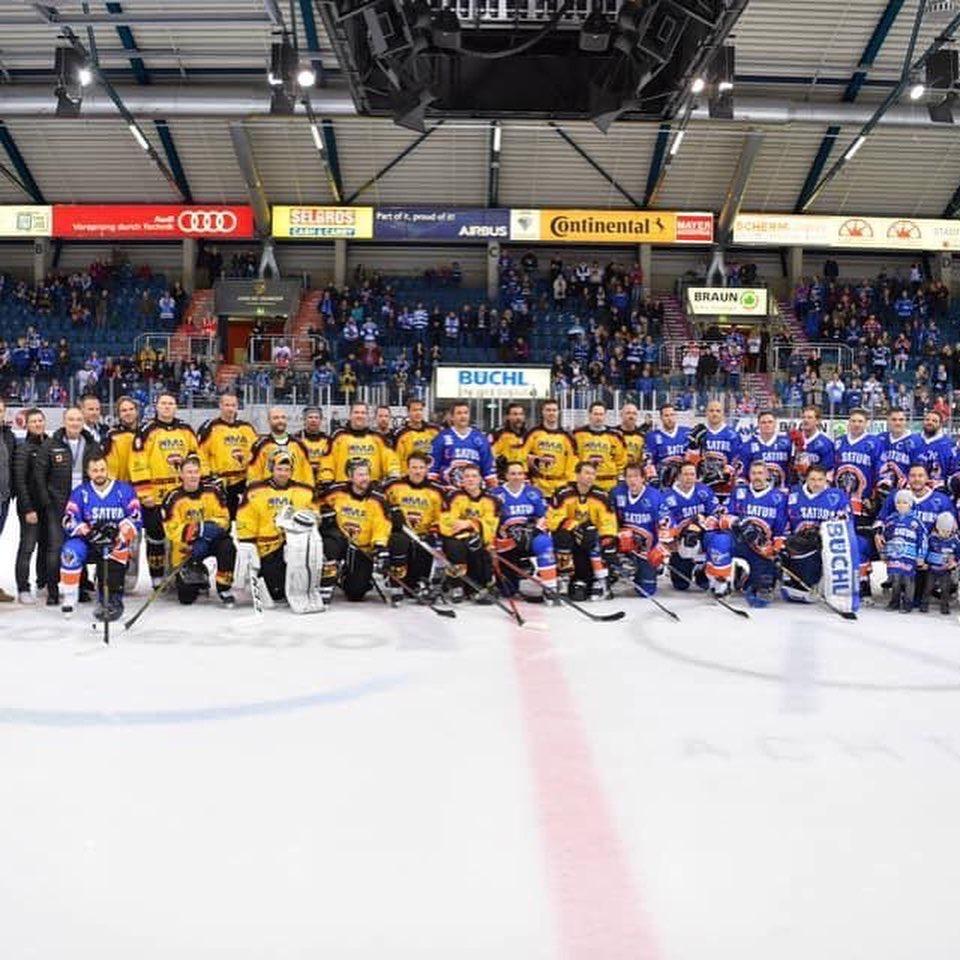 Eishockey – Sternstundenteam gegen ERC-Legendenteam
