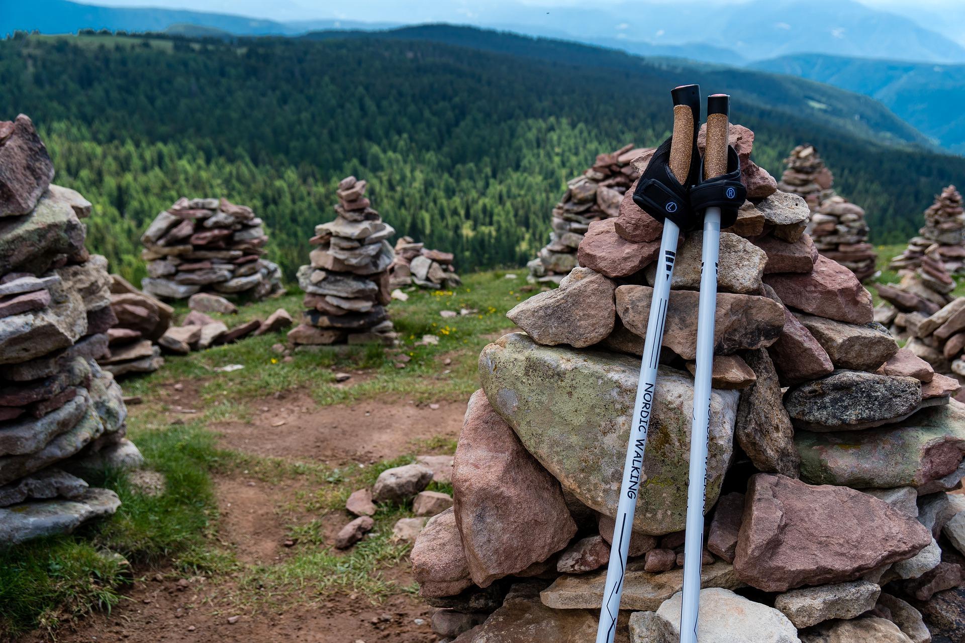 Beim Nordic-Walking will ich den Kopf freibekommen.