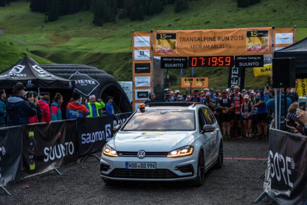 Transalpine Run 2019, Etappe 2 von Lech nach St. Anton, 27,7 km, 1786 Hm Aufstieg, 1920 Hm Abstieg, St. Anton, Tirol, Österreich.