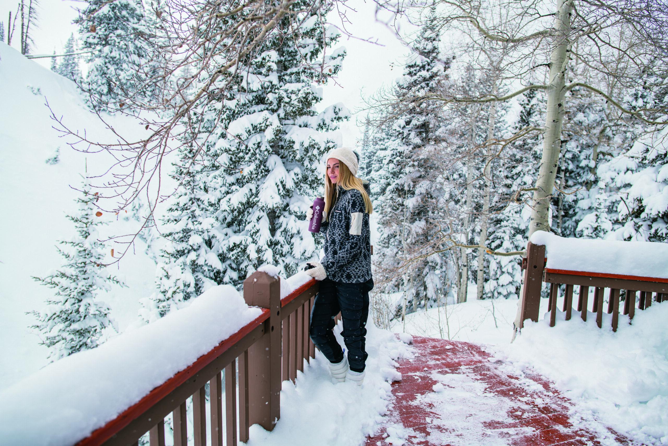 Schick im Ski-Look